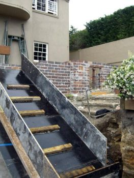 Formwork for staircase at front entrance