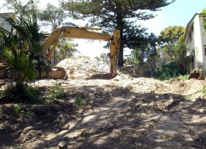 Excavation of old house