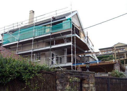 Side during renovation