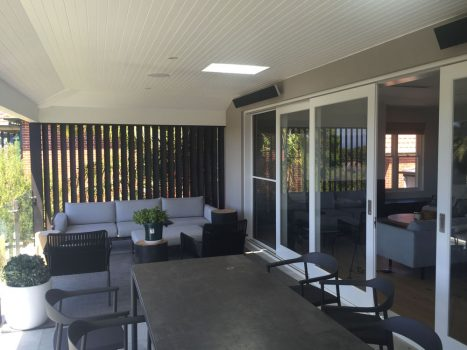 The new entertaining deck at the rear